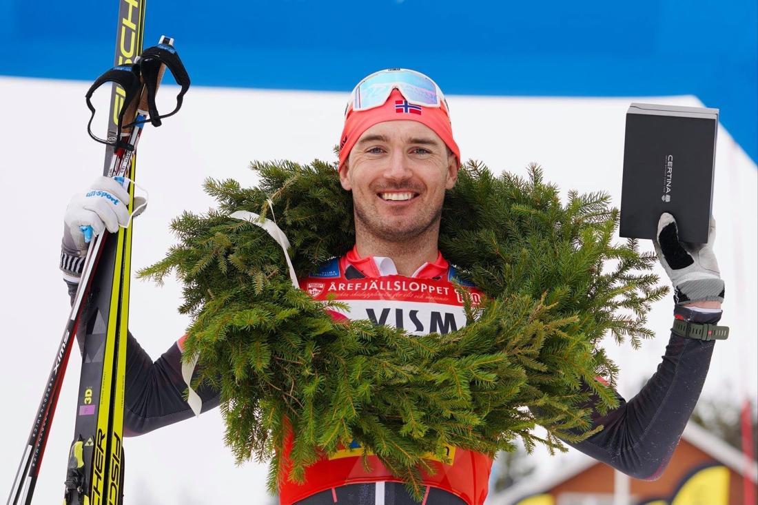 Andreas Nygaard avslutade säsongen med seger. FOTO: Visma Ski Classics/Magnus Östh.
