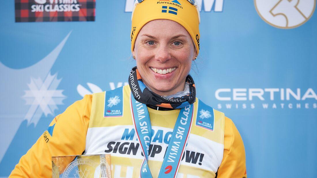Lina Korsgren fullständigt dominerat Visma Ski Classics i vinter med segrar i sex av åtta lopp. FOTO: Visma Ski Classics/Magnus Östh.