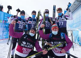 Team Nordic Athlete gjorde en stark avslutning på säsongen och blev sexa i lagtävlingen. Nästa säsong kommer dock laget ha en annat namn. FOTO: Visma Ski Classics/Magnus Östh.