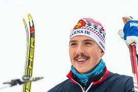 Blir det William Poromaa som avgör för Åsarnas förstalag på herrarnas SM-stafett i morgon torsdag? FOTO: Johanna Lundberg/Bildbyrån.
