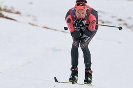 Oskar Kardin i ensam ledning på Årefjällsloppet häromveckan. Kardin som högst troligt blir kvar i norska Team Ragde Eiendom även kommande vinter. FOTO: Visma Ski Classics/Magnus Östh.