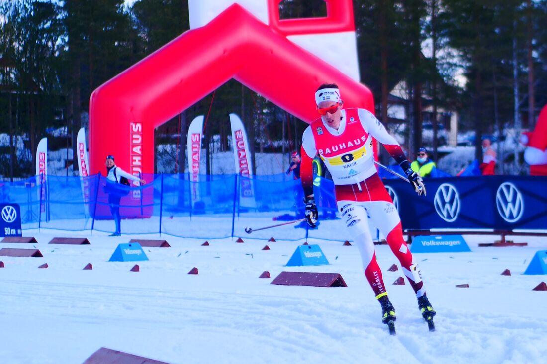 Johan Häggström på väg mot guld i SM-stafetten. FOTO: Hans Olsson.