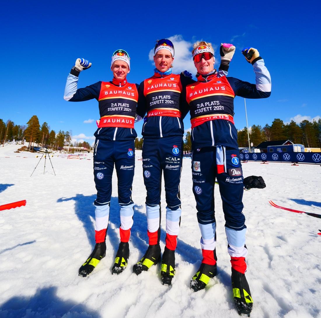 Åsarnas silvergrabbar: Marcus Ruus, William Poromaa och Jens Burman. FOTO: Hans Olsson.
