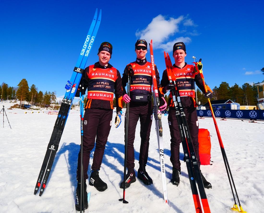 Falun Borlänges bronsgrabbar: Hugo Jacobsson, Simon Andersson och Leo Johansson. FOTO: Hans Olsson.