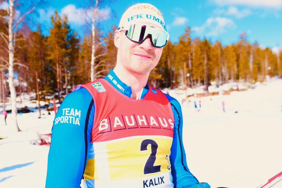 IFK Umeås Marcus Grate i par med Erik Silfver hör till favoriterna vid SM-sprintstafetterna i Kalix i kväll. FOTO: Hans Olsson.