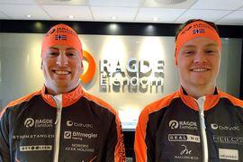 Kasper Stadaas och Johan Hoel har skrivit på för bröderna Auklands Team Ragde Eiendom. FOTO: Team Ragde Eiendom.