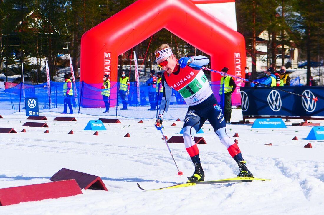 Jens Burman vann SM-tremilen på söndagen. FOTO: Hans Olsson.