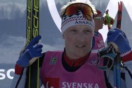 Jens Burman vann SM-tremilen på söndagen en dryg halv minut före William Poromaa. FOTO: Från Expressens sändning.