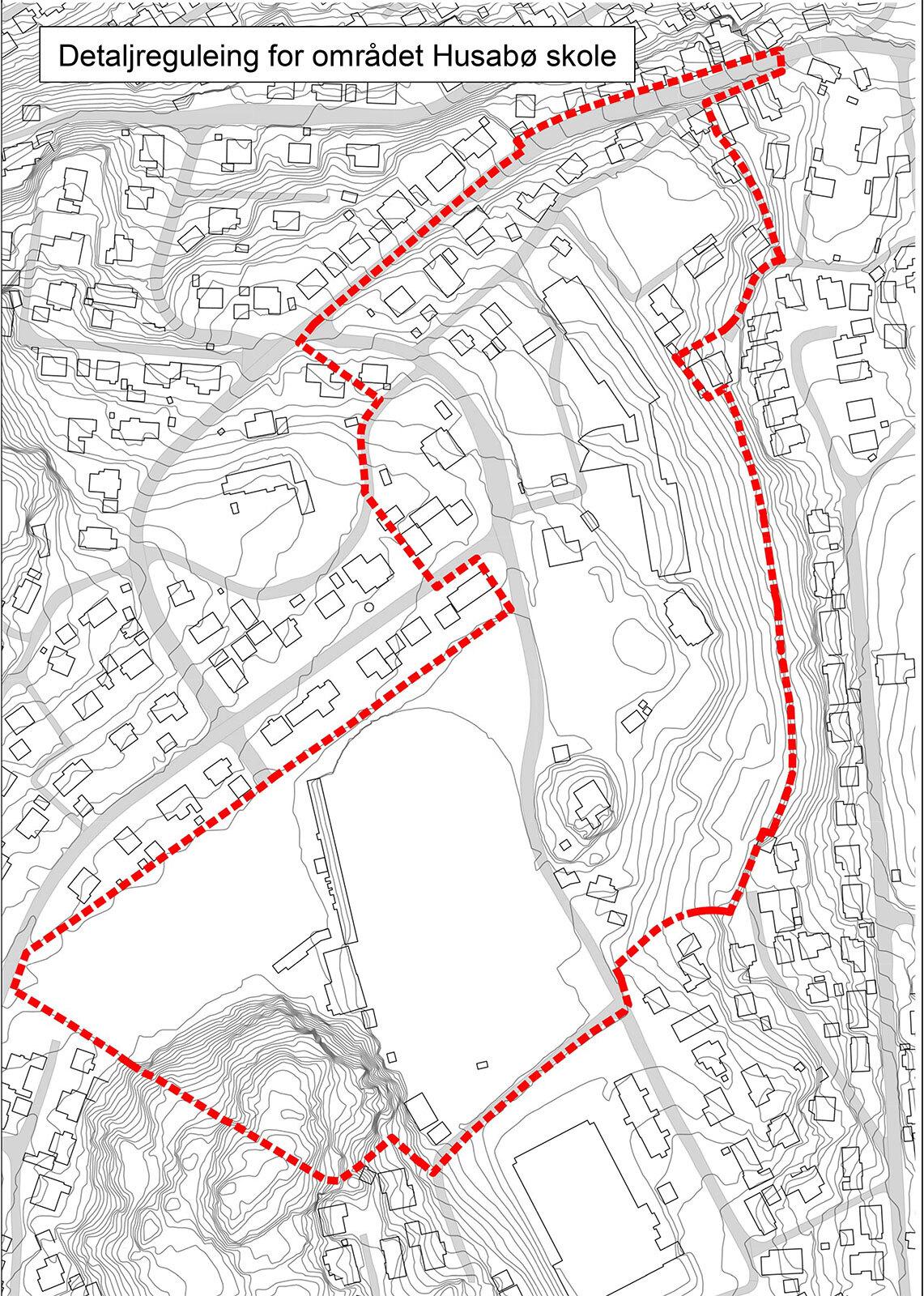Kart over husabø