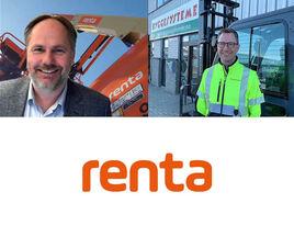 Administrerende direktør i Renta, Leif Martin Drange og konsernleder i Byggesystemer Arne Bratsberg