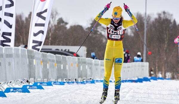 Emilie Fleten är en eftertraktad åkare efter en mycket stark säsong i Visma Ski Classics. Hamnar hon i ett svenskt eller norskt lag säsong XII? FOTO: Visma Ski Classics/Magnus Östh.
