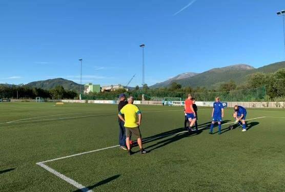 Lakselva idrettsanlegg, foto Sørfold fotballklubb
