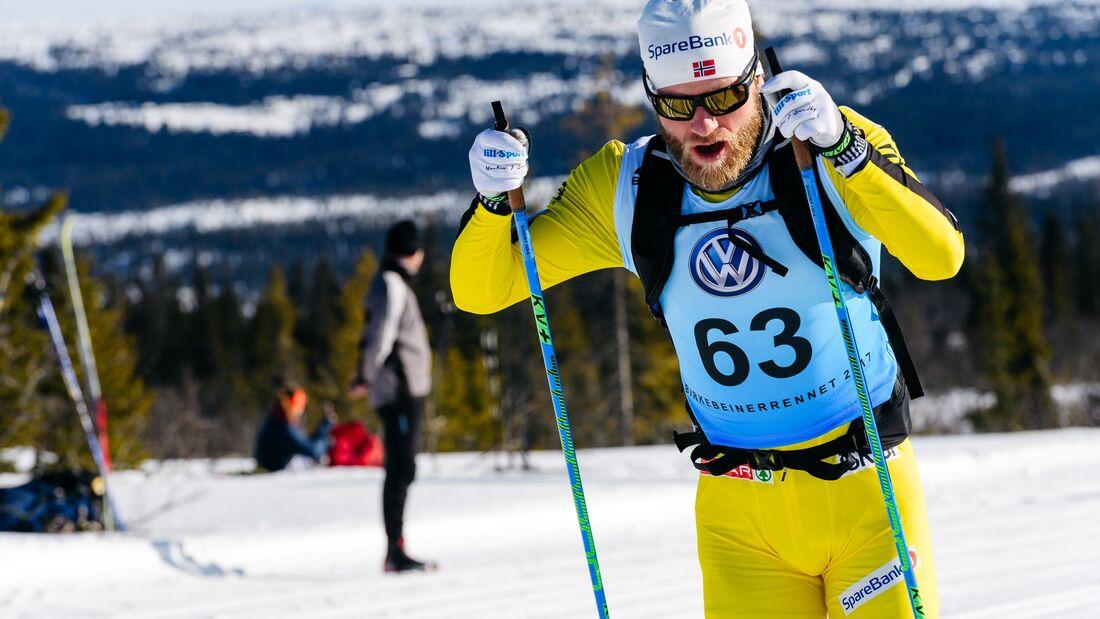 Martin Johnsrud Sundby siktar på segrar i Visma Ski Classics nästa vinter. En har han förut. På bilden är han på väg mot seger i Birkebeinerrennet 2017. FOTO: Visma Ski Classics/Magnus Östh.