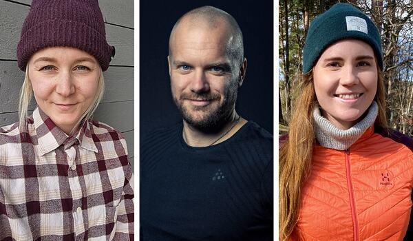 Elin Jonsson, Martin Persson och Petra Åkerblom är 2021-års stipendiater H.M. Konung Carl XVI Gustafs 70-årsfond för unga ledare på snö.