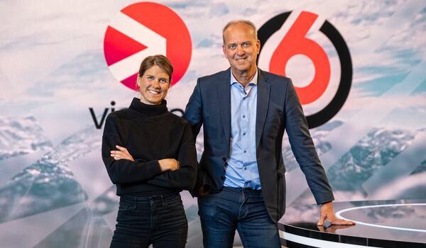 Anna-Karin Strömstedt och Per Forsberg blir Viaplays längdskidåkningskommentatorer. FOTO: Ulf Berglund/NENT Group.