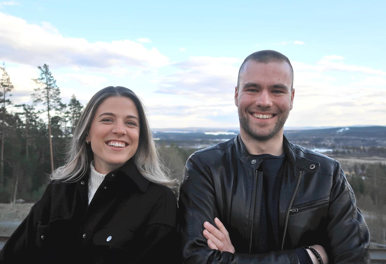Viktor Thorn och Anna Dyvik ser fram emot sitt samarbete.