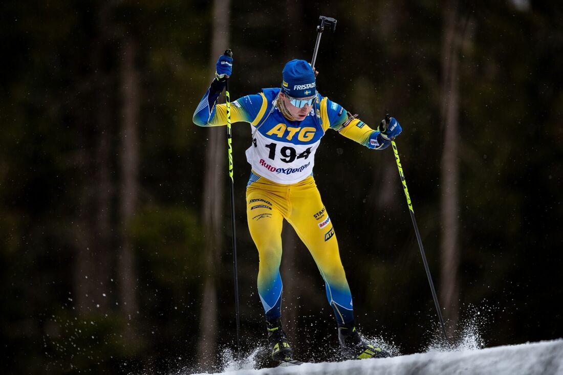 Världsmästaren i sprint, Martin Ponsiluoma, är tillsammans med Hanna Öberg och Sebastian Samuelsson förhandsuttagen till OS i Peking. FOTO:Per Danielsson.