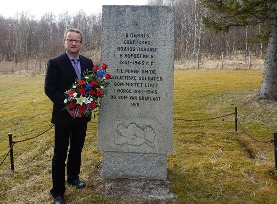 Sovjetisk minnestøtte på Helland