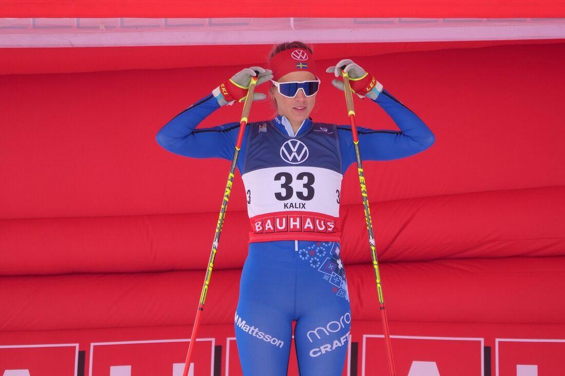Anna Dyvik har siktet inställt på OS i Peking men förberedelserna sker utanför landslagsverksamheten. FOTO: Hans Olsson.