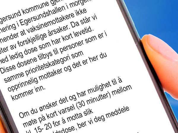 Telefon med SMS