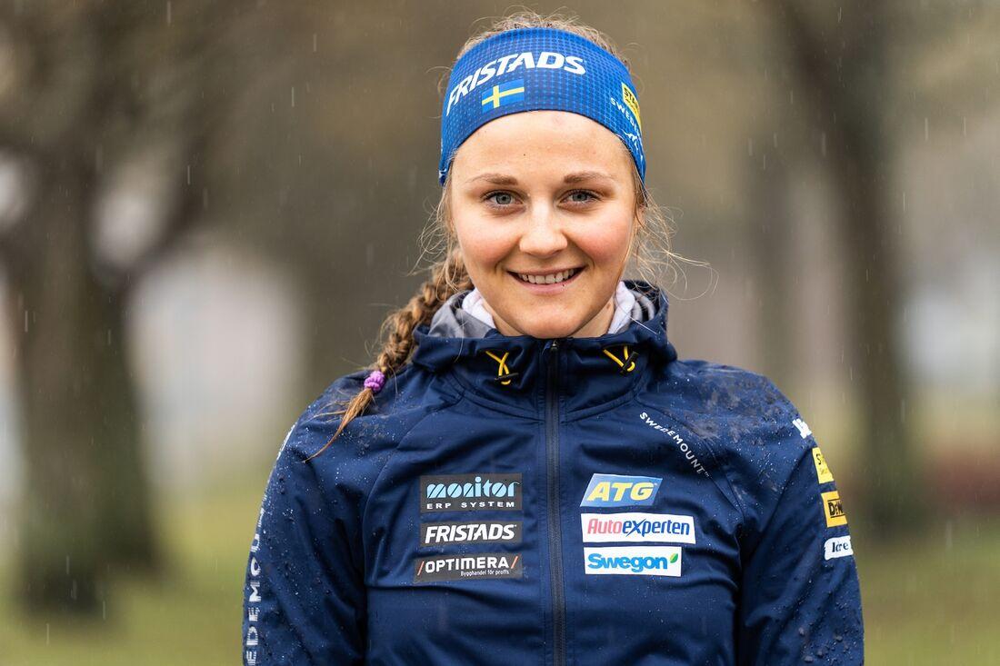 Första året som skidskytt tog sig Stina Nilsson till en ordinarie landslagsplats inför OS-vintern 2022. FOTO: Nicklas Olausson.
