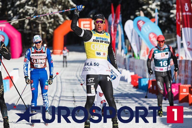 På lördag sänder Eurosport 1 höjdpunkter från Visma Ski Classics-säsongen där Emil Persson dominerade i herrklassen. FOTO: Visma Ski Classics.