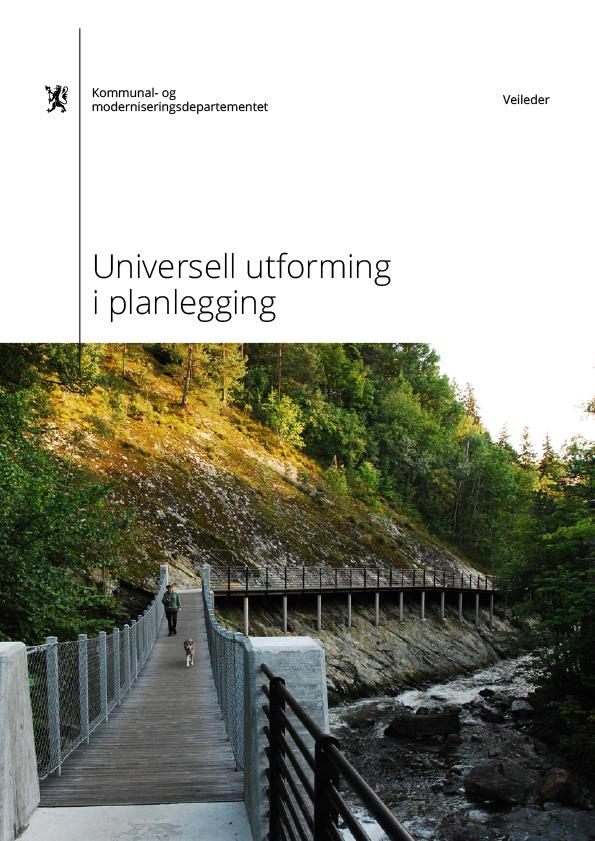 Omslaget til veilederen Universell utforming i planlegging