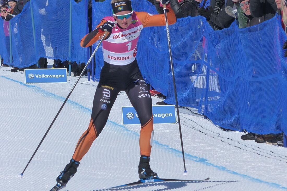 Maja Dahlqvist ser fram att få tävla tillsammans med killarna i landslaget när det blir när mixade stafetter på Svenska Skidspelen i vinter. FOTO: Johan Trygg/Längd.se.