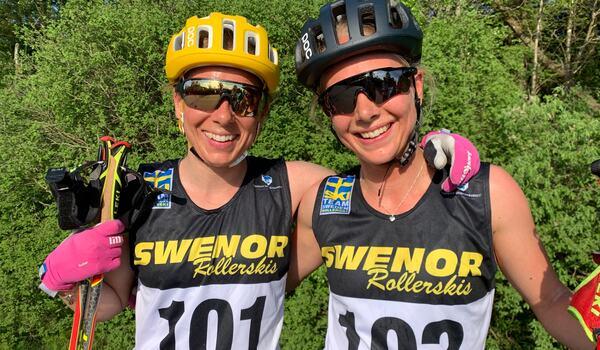 Lina Korsgren och Ida Dahl pressade varandra hårt på Båstad-Mölle. FOTO: Johan Trygg/Längd.se.