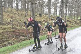 Emil Persson, Thea Krokan Murud och Britta Johansson Norgren är tre av åkarna som kommer till start på Grönklitt Double Poling Hill Climb. FOTO: Lager 157 Ski Team.