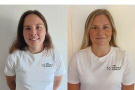 Sofie Elebro och Julia Angelsiöö är två svenska åkare i norska långloppslaget Team Parkettpartner Sjusjøen blir Team Næringsbanken. FOTO: Team Næringsbanken.
