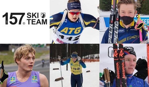 Fem unga åkare har tagits ut till Lager 157 Ski Team:s ungdomslag.
