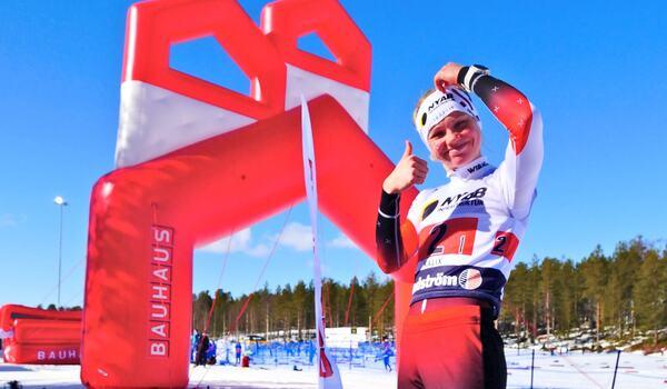 Emma Ribom i samband med vårens SM i Kalix, på hennes gamla hemmabana. FOTO: Hans Olsson.