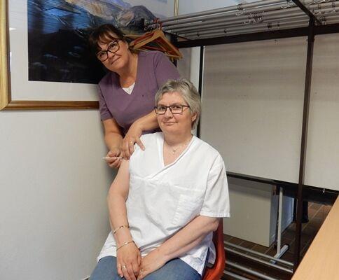 Helsesykepleier Trude Zahlsen og Katrin Elvebakk