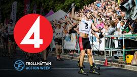 Det blir åtta timmars sändning i TV4 från Trollhättan Action Week och Alliansloppet 26-28 augusti. På bilden ser vi Andreas Nygaard vinna Alliansloppet 2017. FOTO: Trollhättan Action Week.