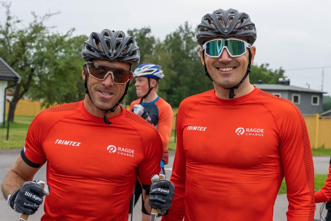 Den gamle och… Anders Aukland och Andreas Nygaard är glada i att träna tillsammans. FOTO: Børre E. Helgerud.