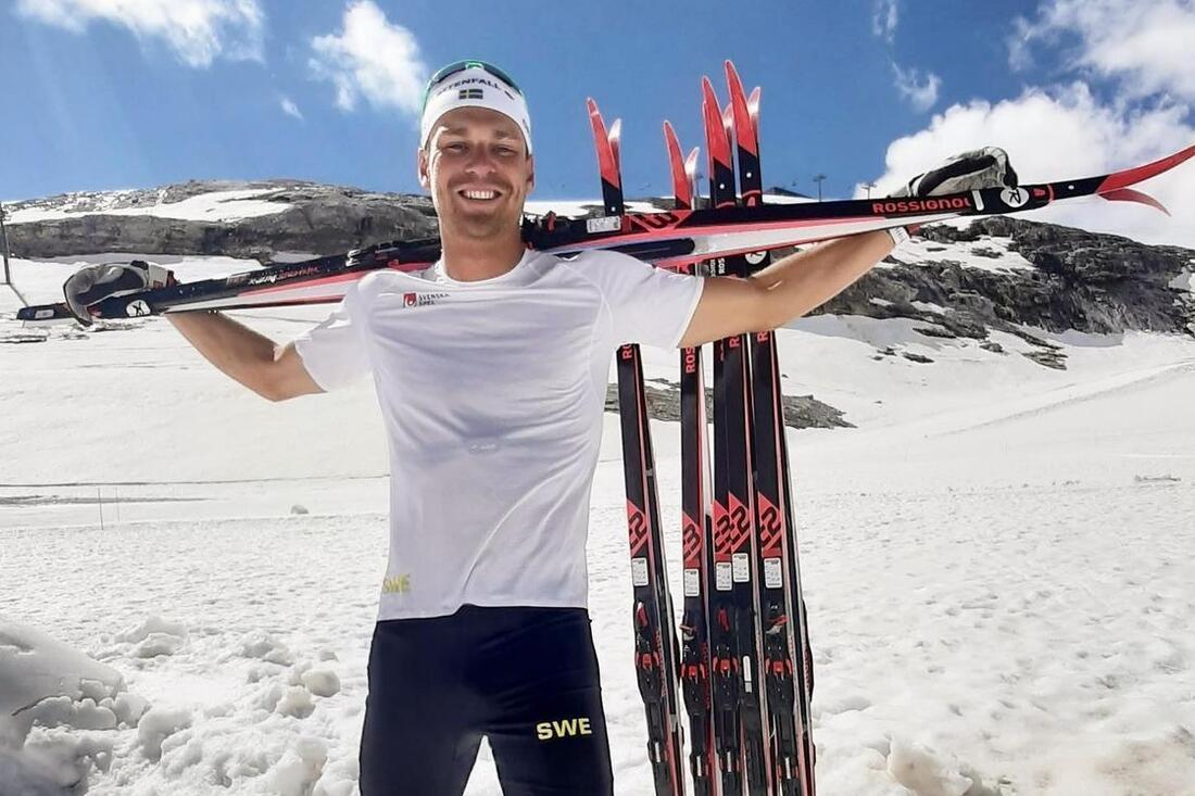 Marcus Grate är ny åkare på Rossignol inför OS-vintern. FOTO: Instagram Marcus Grate.