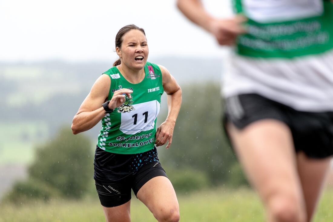Sofie Elebro var snabbast av damerna på Från botten till Sockertoppen i Östersund under lördagen. FOTO: Per Danielsson.