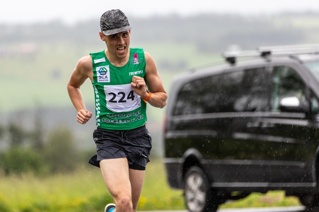 Rasmus Hörnfeldt var snabbast till toppen. FOTO: Per Danielsson.