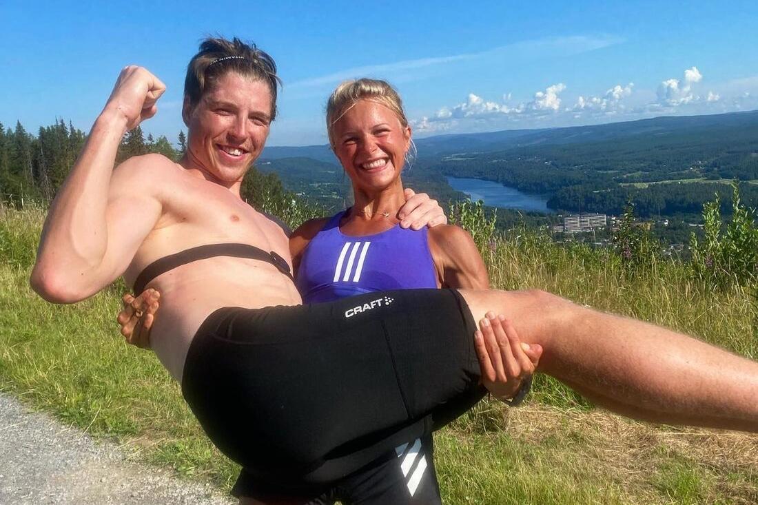 William Poromaa och Frida Karlsson visade fin sommarform när båda slog nytt rekord på Hallstatestet. FOTO: Instagram William Poromaa.