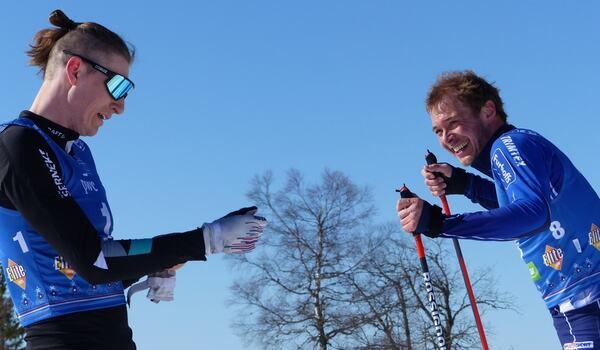 Pontus Nordström och Axel Bergsten är två av åkarna i nya svenska långloppsteamet, Exsitec Ski Team. FOTO: Johan Trygg/Längd.se.