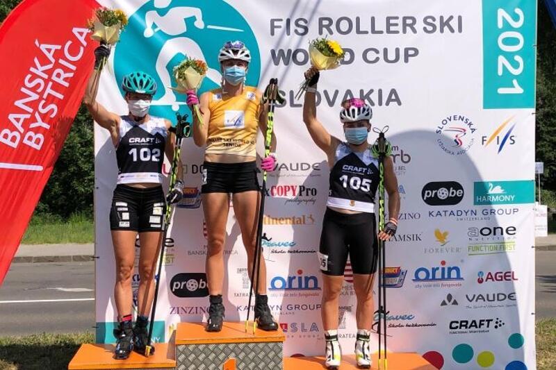Linn Sömskar vann för andra dagen i rad på rullskidvärldscupen i Slovakien. FOTO: Svenska skidförbundet.