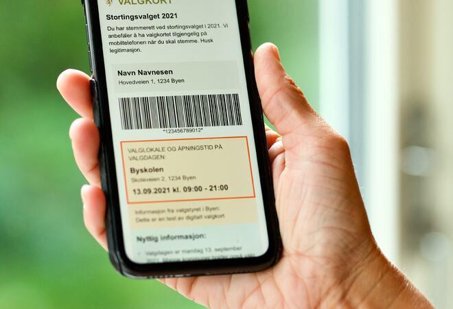 Bilde digitalt valgkort