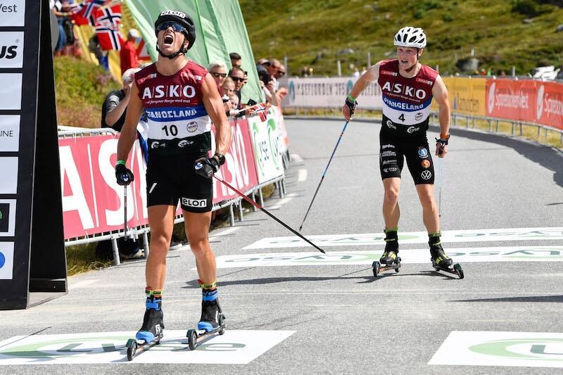 Gaute Kvåle van Lysebotn Opp precis före Jens Burman. FOTO: BLINK/Hans Lie.