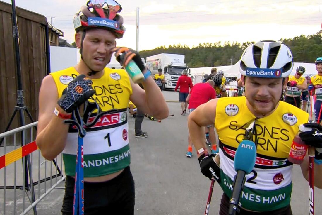 Pål Golberg och Håvard Solås Taugböl dominerade jaktstarten vid Blinkfestivalen i Sandnes. FOTO: från NRK:s sändning.