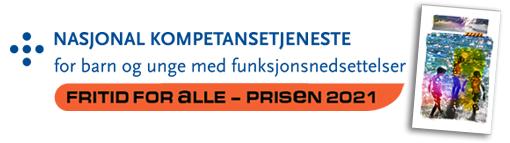 Logoen til fritid for alle-prisen 2021 og bildet av bildet som gis til prisvinnerne