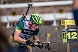 Sebastian Samuelsson ska försvara sina två SM-guld från ifjol när SM i rullskidskytte avgöras i Sollefteå i helgen. FOTO: Nicklas Olausson.