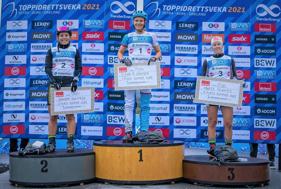 Johanna Hagström blev tvåa på både sprinten (bilden) och skiatathlon-loppet under Toppidrettsveka i Norge. FOTO: Toppidrettsveka.
