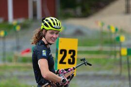 Hanna Öberg jobbar med många detaljer för att komma så bra förberedd som möjligt inför OS-vintern. FOTO: Per Danielsson/Projekt.P
