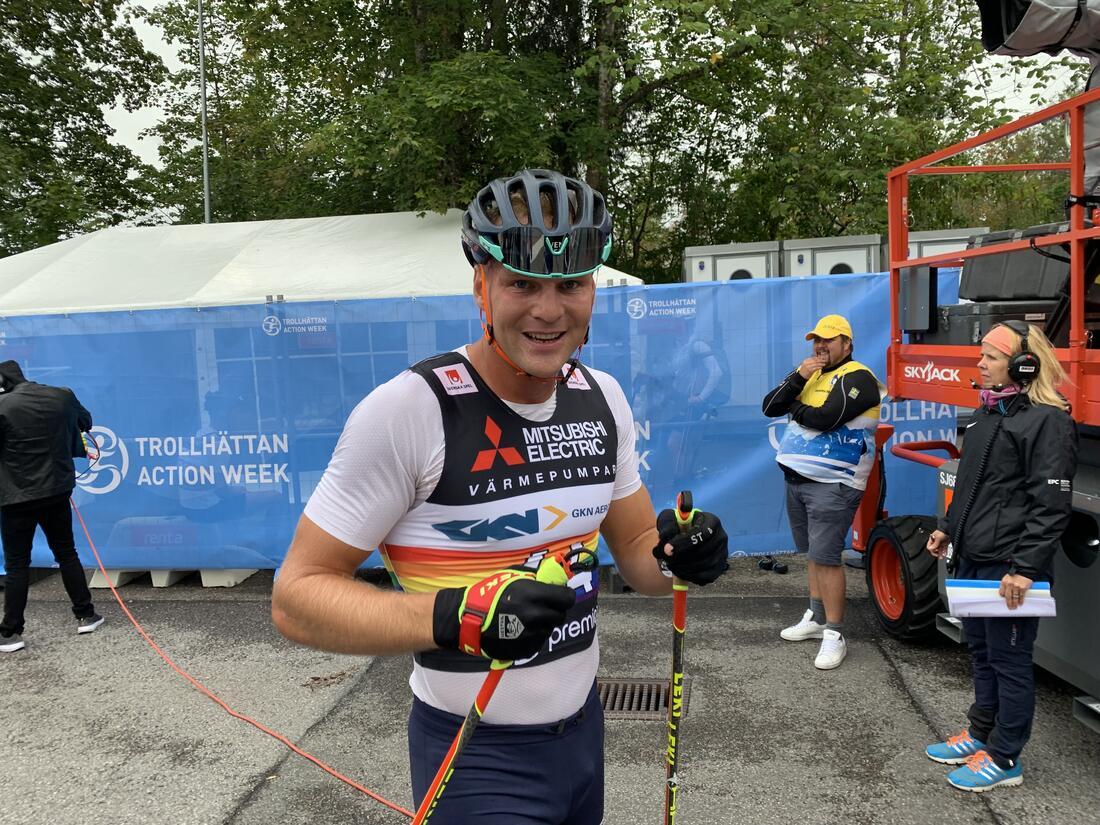 Marcus Grate - dagens vinnare i Trollhättan FOTO: Johan Trygg/Längd.se